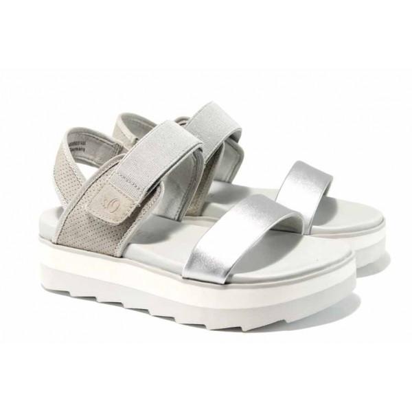 Дамски сандали на комфортно ходило S.Oliver 5-28202-20 сребро | Немски сандали на платформа | MES.BG