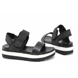 Дамски сандали на комфортно ходило S.Oliver 5-28202-20 черен | Немски сандали на платформа | MES.BG