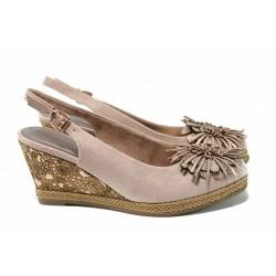 Дамски сандали на платформа Marco Tozzi 2-29608-20 розов | Немски сандали на ток | MES.BG