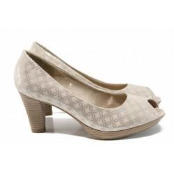 Елегантни дамски обувки Marco Tozzi 2-29302-20 бежов | Немски обувки на ток | MES.BG