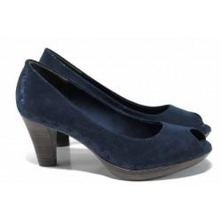 Елегантни дамски обувки Marco Tozzi 2-29302-20 син металик | Немски обувки на ток | MES.BG