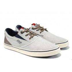 Мъжки кецове с еластично ходило S.Oliver 5-13604-20 сив | Мъжки немски обувки | MES.BG