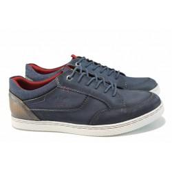 Мъжки спортни обувки от естествена кожа S.Oliver 5-13629-20 син | Мъжки немски обувки | MES.BG