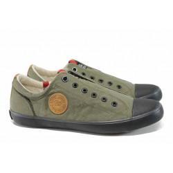 Мъжки кецове на комфортно ходило S.Oliver 5-14604-20 каки | Мъжки немски обувки | MES.BG