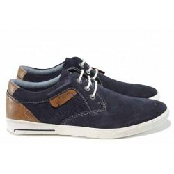Мъжки обувки от естествен набук S.Oliver 5-13605-20 т.син | Мъжки немски обувки | MES.BG