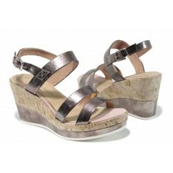 Дамски сандали на комфортно ходило Marco Tozzi 2-28357-20 розов | Немски сандали на платформа | MES.BG