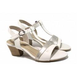 Комфортни дамски сандали Jana 8-28360-20 бял | Немски сандали на ток | MES.BG