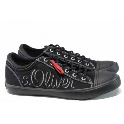Мъжки кецове с FLEX система S.Oliver 5-13619-20 черен | Мъжки немски обувки | MES.BG