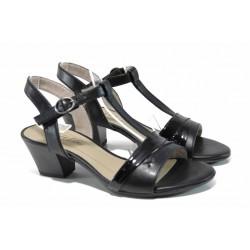 Комфортни дамски сандали Jana 8-28360-20 черен | Немски сандали на ток | MES.BG