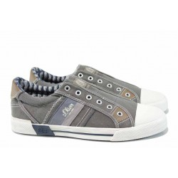 Мъжки кецове с FLEX система S.Oliver 5-14603-20 сив | Мъжки немски обувки | MES.BG
