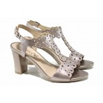Елегантни дамски сандали от естествена кожа Caprice 9-28312-20 розов | Немски сандали на висок ток | MES.BG