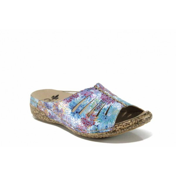 Дамски чехли на комфортно ходило Rieker V7286-90 син ANTISTRESS | Немски дамски обувки | MES.BG