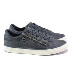 Дамски спортни обувки с мемори пяна S.Oliver 5-23615-21 син | Немски равни обувки | MES.BG