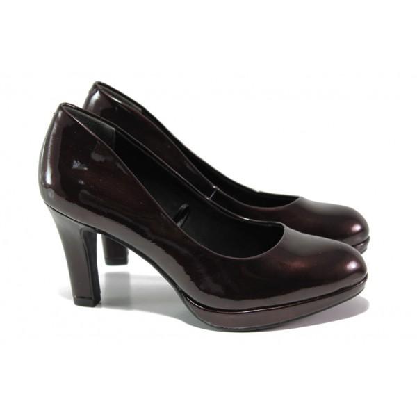 "Елегантни дамски обувки с ""мемори"" пяна Marco Tozzi 2-22421-21 бордо | Немски обувки на ток | MES.BG"