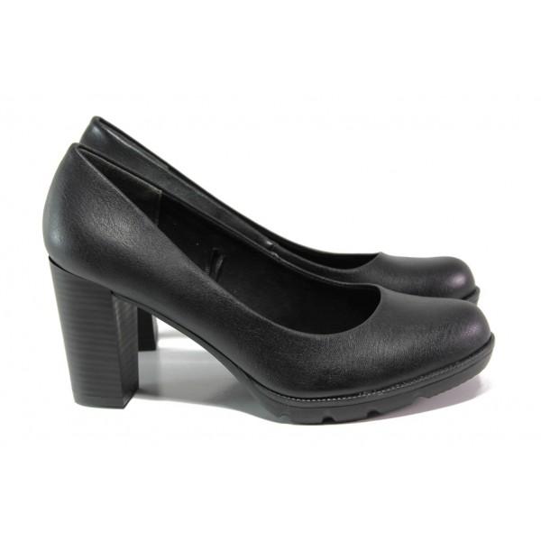 Елегантни дамски обувки на комфортно ходило Marco Tozzi 2-22404-31 черен | Немски обувки на ток | MES.BG