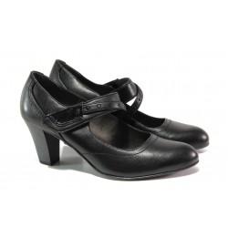 Дамски обувки от естествена кожа Jana 8-24302-21 черен | Немски обувки на ток | MES.BG