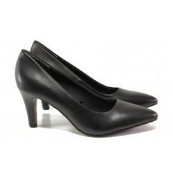 Елегантни дамски обувки от естествена кожа S.Oliver 5-22432-21 черен | Немски обувки на ток | MES.BG