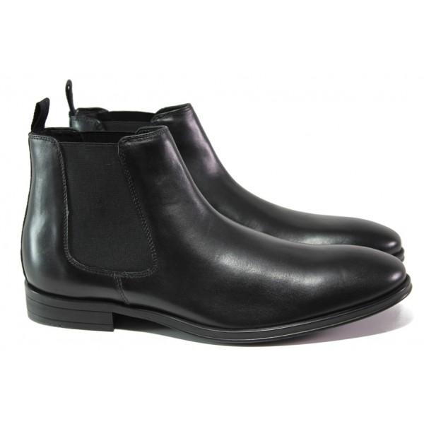 Мъжки боти от естествена кожа и FLEX ходило S.Oliver 5-15300-21 черен | Немски мъжки обувки | MES.BG