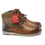 Мъжки боти от естествена кожа с каучуково ходило S.Oliver 5-15227-21 кафяв | Немски мъжки обувки | MES.BG