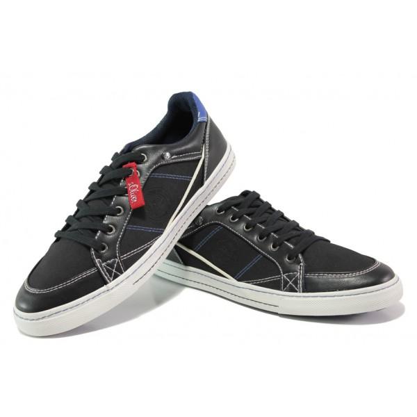 Мъжки спортни обувки на комфортно ходило S.Oliver 5-13603-21 черен | Мъжки немски обувки | MES.BG