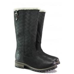 Комфортни дамски ботуши от естествена кожа с топъл хастар S.Oliver 5-26613-21 черен | Немски ботуши | MES.BG