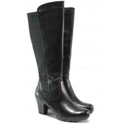 Дамски ботуши от естествена кожа за Н крак Jana 8-25502-21Н черен | Немски ботуши | MES.BG