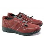 Дамски спортни обувки с мемори пяна Jana 8-23600-21 бордо | Немски равни обувки | MES.BG