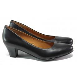 Дамски обувки от естествена кожа Caprice 9-22415-25 черен | Немски обувки на среден ток | MES.BG