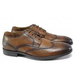 Мъжки обувки от естествена кожа S.Oliver 5-13205-21 кафяв | Немски мъжки обувки | MES.BG