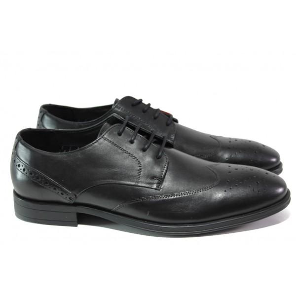 Мъжки обувки от естествена кожа S.Oliver 5-13205-21 черен | Немски мъжки обувки | MES.BG