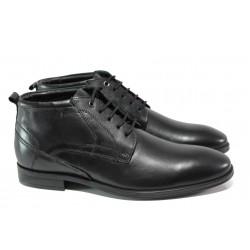 Мъжки боти от естествена кожа S.Oliver 5-15102-21 черен | Немски мъжки обувки | MES.BG