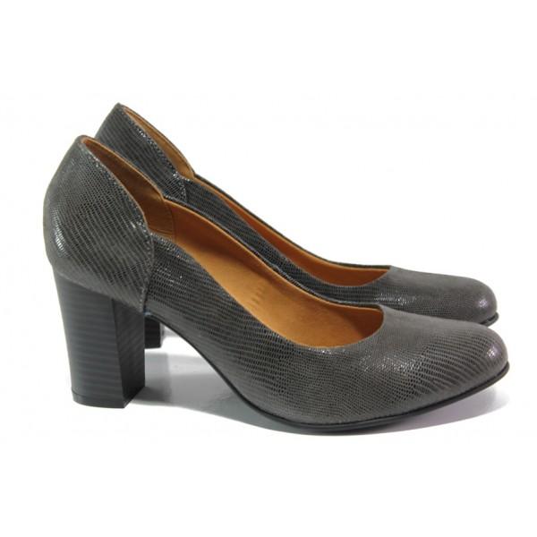 Елегантни дамски обувки от естествена кожа Caprice 9-22403-21 зелен | Немски обувки на висок ток | MES.BG