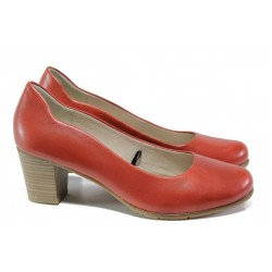 Дамски обувки от естествена кожа за Н крак Jana 8-22404-22 чили | Немски обувки на ток | MES.BG