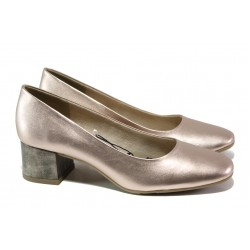 Дамски лачени обувки на среден ток Jana 8-22302-22G розов металик | Немски обувки на ток | MES.BG