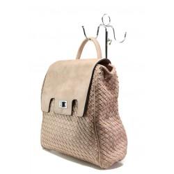 Дамска спортна чанта-раница ФР 1387 розов | Дамска чанта | MES.BG