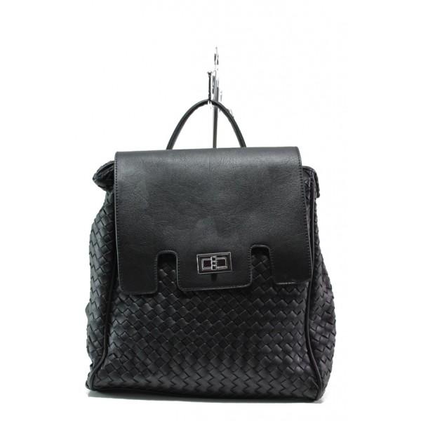Дамска спортна чанта-раница ФР 1387 черен | Дамска чанта | MES.BG