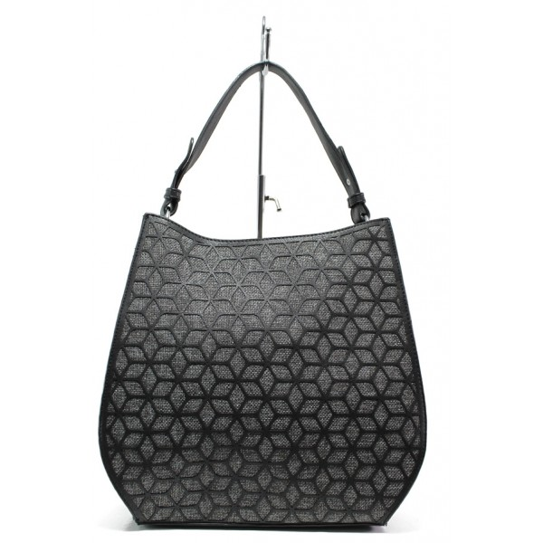Модерна ежедневна чанта ФР 2052 черен | Дамска чанта | MES.BG