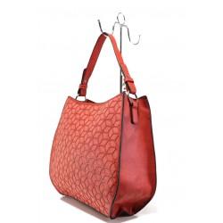 Модерна ежедневна чанта ФР 2052 червен | Дамска чанта | MES.BG
