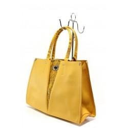 Елегантна дамска чанта ФР 231 жълт | Дамска чанта | MES.BG