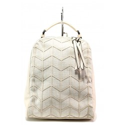 Спортна чанта-раница ФР 2062 бежов | Дамска чанта | MES.BG