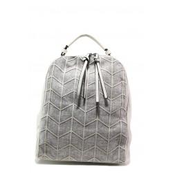 Спортна чанта-раница ФР 2062 сив | Дамска чанта | MES.BG