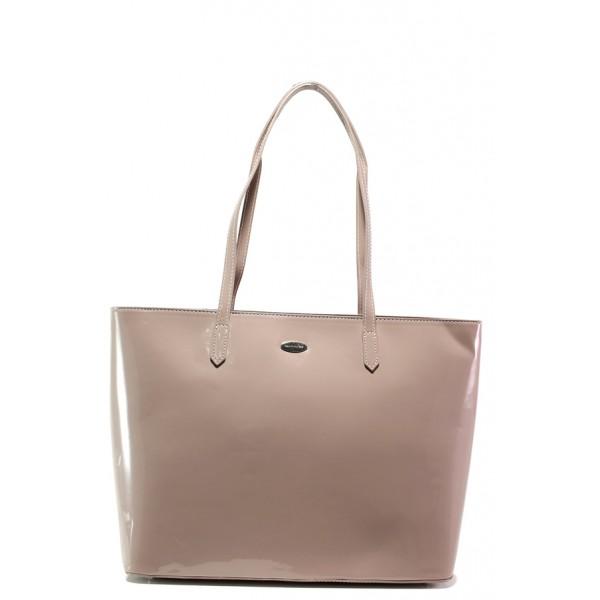 Лачена дамска чанта ФР 3856 розов | Дамска чанта | MES.BG