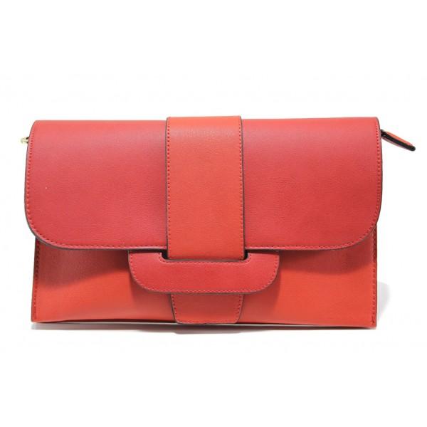Елегантна дамска чанта клъч ФР 477 червен | Дамска чанта | MES.BG