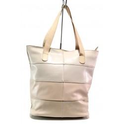 Българска дамска чанта от естествена кожа КН 222 розов | Дамска чанта | MES.BG