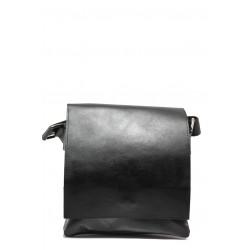 Българска мъжка чанта от естествена кожа КН 2 черен | Мъжка чанта | MES.BG