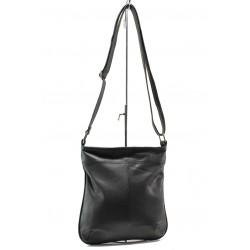 Българска дамска чанта от естествена кожа КН 8 черен | Дамска чанта | MES.BG