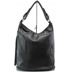 Българска дамска чанта от естествена кожа КН 9 черен | Дамска чанта | MES.BG