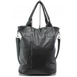 Българска дамска чанта от естествена кожа КН 7 черен | Дамска чанта | MES.BG