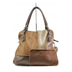 Българска дамска чанта от естествена кожа КН 12 кафяв | Дамска чанта | MES.BG