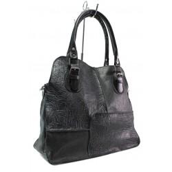 Българска дамска чанта от естествена кожа КН 12-4 черен | Дамска чанта | MES.BG